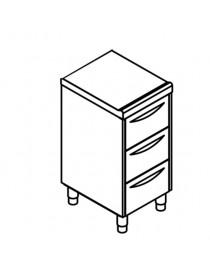 bloc de 3 tiroirs GN 1/1....