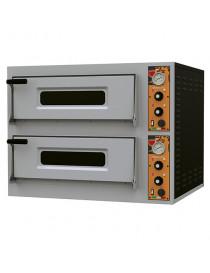 Four à pizza électrique pour 6+6 pizzas ø32 cm. contrôle mechanique
