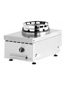 Wok à gaz avec adaptateurs d'anneau de wok