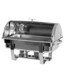 "chafing dish avec couvercle ""roll-àp"". 1x GN 1/1 h65 mm"